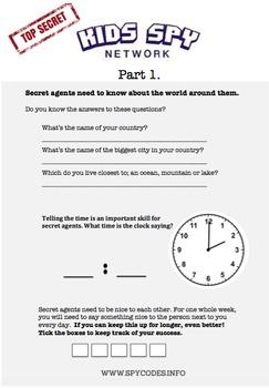 Secret Mission: Age 5- Editable word document