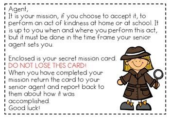 Secret Mission Pack - Promoting random acts of kindness