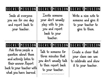 Secret Missions: A Classroom Kindness Project