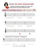 Secret Musical Valentine Code Worksheets