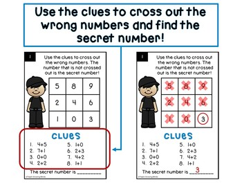 Secret Number Puzzles - Addition and subtraction to 20
