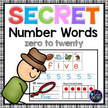 Secret Words Numbers Words Zero to Twenty