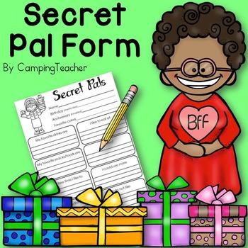 Secret Pal Form for Teachers and Schools {Freebie!}