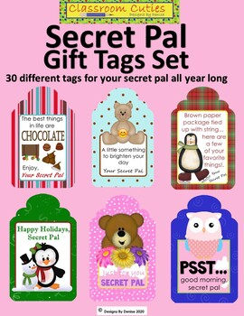 Secret Pal Gift Tag Set