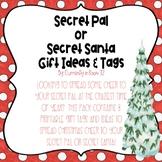 Secret Pal or Secret Santa Gift Tags