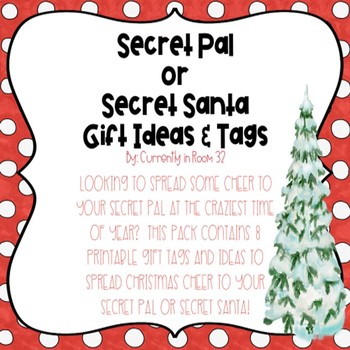 graphic about Printable Santa Gift Tags named Top secret Good friend or Magic formula Santa Reward Tags