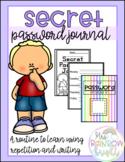 Secret Password Journal & Morning Routine