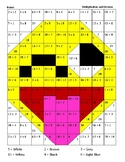 Hidden Picture - Division and Multiplication Emoji