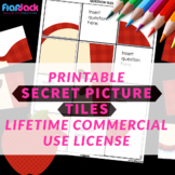 Printable Secret Picture Tiles Commercial License