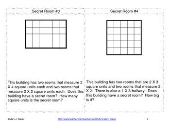 Secret Room Task Cards