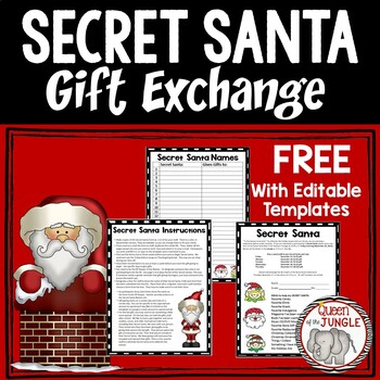 Secret santa gift exchange free by queen of the jungle tpt - Best gifts for office secret santa ...