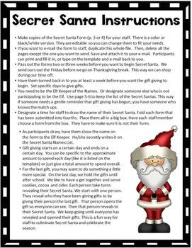 Secret Santa Gift Exchange Free