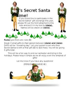 Secret Santa By Amber Deremo Teachers Pay Teachers