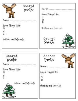 Secret Santa Ballot Sheets