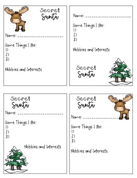picture about Secret Santa Sign Up Sheet Printable identified as Key Santa Ballot Sheets
