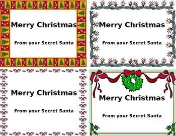 Secret Santa Cards