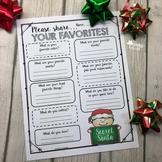 Secret Santa {Favorites Questionnaire}
