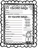 Secret Santa Form - Questionnaire in Black and White {Texas Twist Scribbles}
