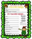 Secret Santa Form - Questionnaire in Color {Texas Twist Scribbles}
