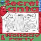 Secret Santa Forms   Holiday Letter to Parents