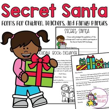 Secret Santa Forms (Staff, Family Parties, Children)