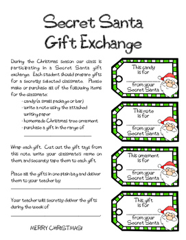 Secret Santa Gift Exchange Kit (for students)