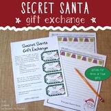 Secret Santa Gift Exchange Kit (for students)