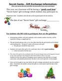 Secret Santa Gift Exchange Student & Parent Letter- different from other version