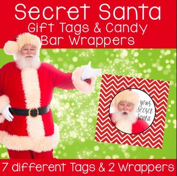 Secret Santa Gift Tags & Candy Bar Wrappers BUNDLE