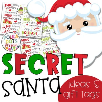 Secret Santa Gift Tags And Ideas By Polka Dots Please TpT