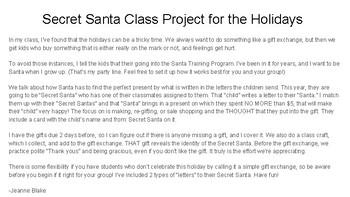 Secret Santa Holiday Project