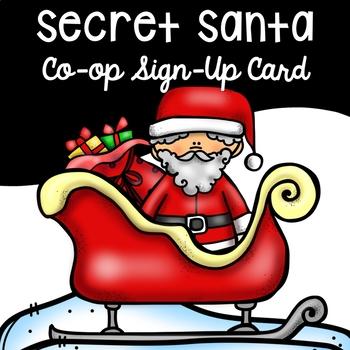 Secret Santa Homeschool Co-Op Sign Up Sheet