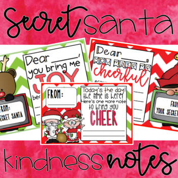 Secret Santa Kindess Note