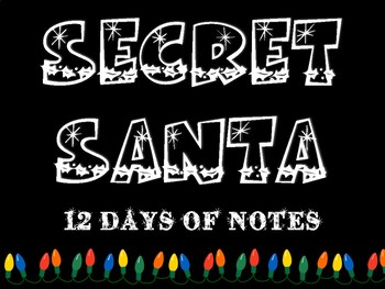 Secret Santa: Kindness Notes