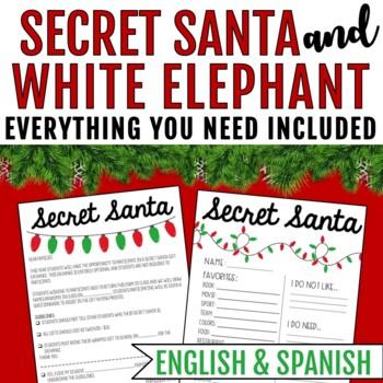 Secret Santa & White Elephant Gift Exchange Forms