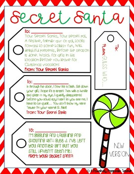 Secret Santa Notes/Tags