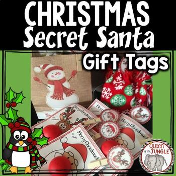 Secret Santa Printable Christmas Gift Tags