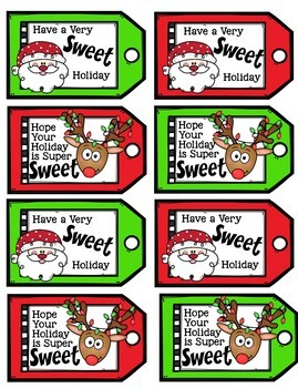 picture about Secret Santa Gift Tags Printable called Key Santa Printable Xmas Present Tags