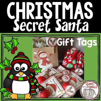 It's just a graphic of Adorable Secret Santa Gift Tags Printable Free