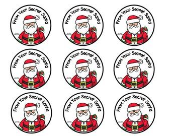 Secret Santa, Secret Snowflake, Secret Gnome, Secret Snowman Gift Tags