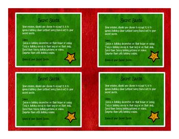 Secret Santa Slips