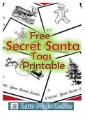 Secret Santa Tags Printable-FREE!