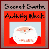 Secret Santa Week Holiday Activity