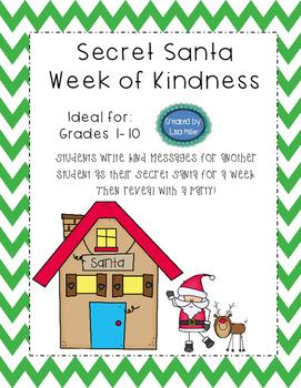 Secret Santa Week of Kindness Activity