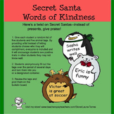 Secret Santa Words of Kindness