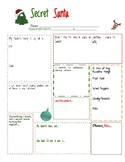 Secret Santa Worksheet