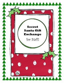 Secret Santa Forms Worksheets Teaching Resources Tpt