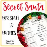Secret Santa for Staff and Friends