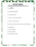 Secret Santa Information Questionnaire