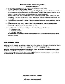Secret Scenarios - Inference Group Activity Center #3